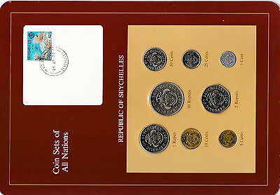 Coin Sets of All Nations Seychelles Maroon 1977 - 1982 UNC 5 cents 1982 25AP83