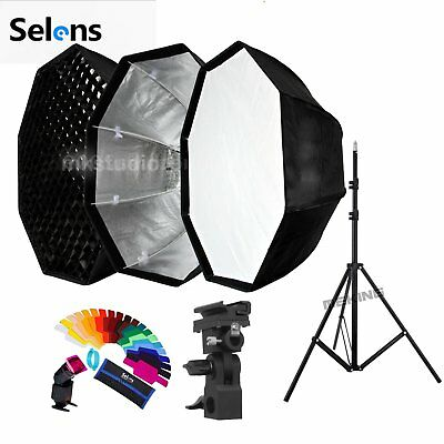 Selens 80cm Umbrella Octagon Softbox and Light Stand kit for Flash Speedlite