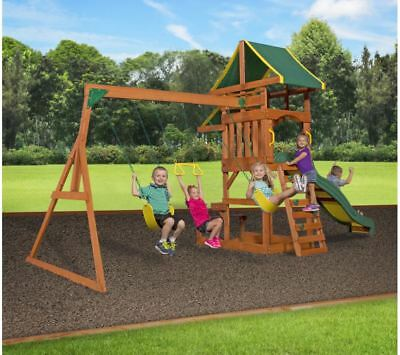 Backyard Discovery Cedar Swing Set Playground Outdoor