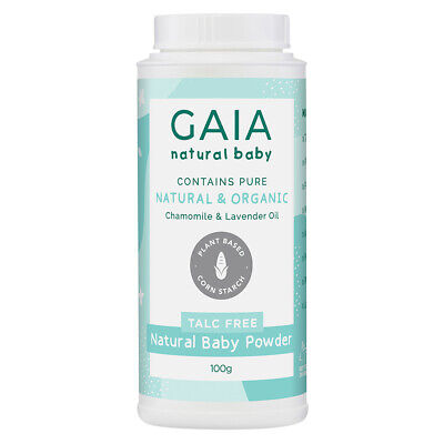 Gaia 100g Natural/Pure/Organic Baby Powder Vegan Friendly/Talc Free Cornstarch