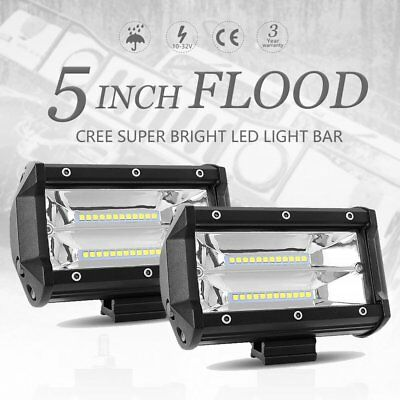 5Inch 72W Led Work Light Bar Flood Offroad 4Wd Boat Atv Suv Fog Driving