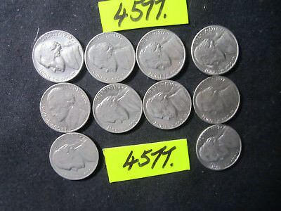 10 x five cent  coins 1970's era from  U.S.A.     20  gms      Mar4577