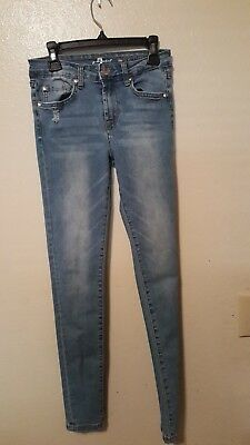 Girl's 7 for all man kind jeans size 14 slim ( fits like a 10/12)