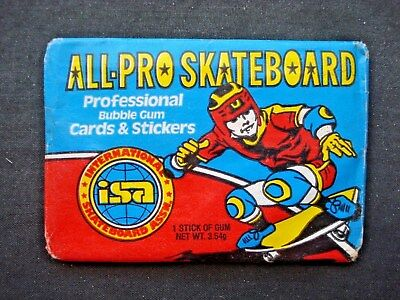1978 Donruss *all Pro Skateboard* Sealed Wax Pack