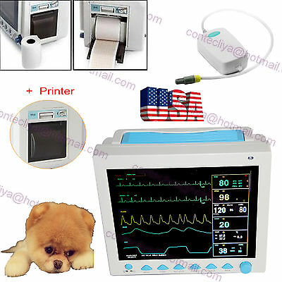 Contec VET Veterinary Multi-parameter ICU CCU Patient Monitor+Printer+ETCO2 CE