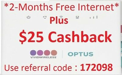 Vivid Wireless_TWO MONTHS FREE_Plus $25 cash back_Use Referral Code 172098