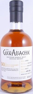 GlenAllachie 1990 27 Years Sherry Butt 2517 50th Anniversary Whisky 54,6% - RARE
