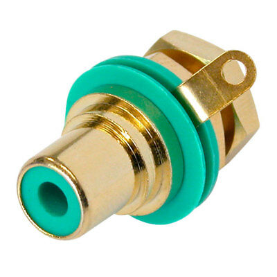 REAN / Neutrik AG NYS367-5 Phono Jack Gold Plated Green