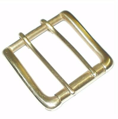 "2"" Inch 5Cm Solid Cast Brass Belt Strap Single Roller Buckle Double Prong"