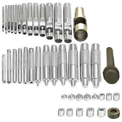 2mm – 40mm DIY Eyelets Hollow Hole Punch Tool Set 3 Parts for Canvas Grommet
