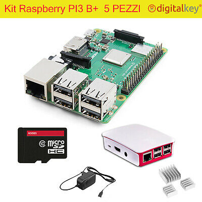 Kit Raspberry PI 3 - Case MicroSD 32Gb Alim 2,5A Set Dissip Raspbian o RetroPie