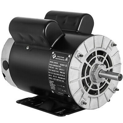 5 HP SPL 3450 RPM Air Compressor 60 Hz Electric Motor , 208-230 Volts USA