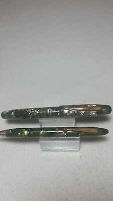 Vtg Non Matching Parker Parkette Fountain Pen & Mechanical Pencil  ( For Parts )