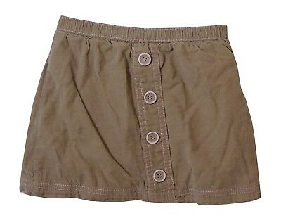 Baby Girls George Beige Cord Lined Button Fronted Skirt Age 12-18 Months