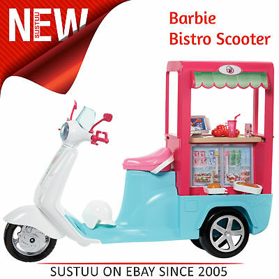 Barbie Bistro Scooter│Play Set With Accessories│Creative Activity Toy For Kids│
