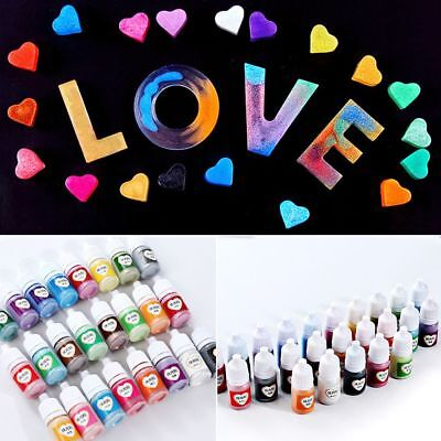 24-Colour 5ml Crafts UV Resin Epoxy Rainbow Pearlescent Mica Pigment Powder
