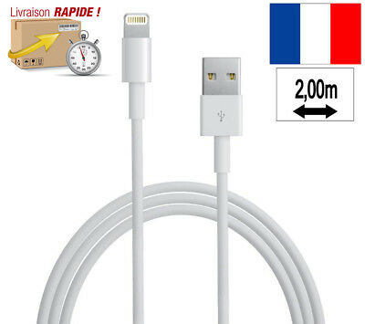 Cable Chargeur 2 Metres Relax Pour Iphone 6 6S X 7 8 Plus Se 5S 5C Usb Sync