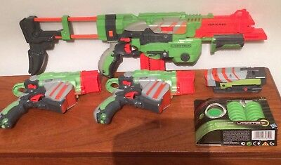 Nerf Vortex Gun Bundle Plus new bullets