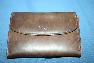 Vintage Classic Mia Leather Purse 'Granny' Style Brown Soft Leather
