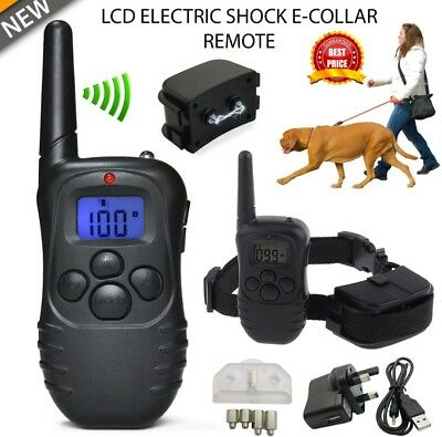 Electric Shock Vibrate Dog E-Collar Remote Control Pet Dog Training Anti-Bark