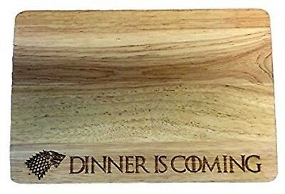 """Game of Thrones House Stark """"Dinner is Coming"""" Wooden Chopping Board"""