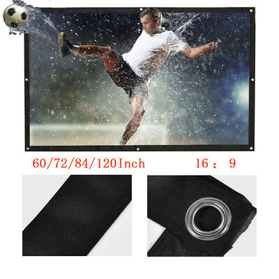 60-120 Inch 16:9 Portable Foldable No-crease Projector Curtain Projection Screen