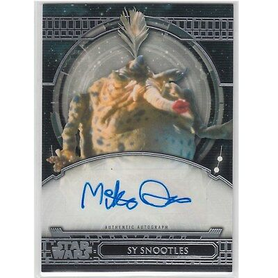 Star Wars 40Th Anniversary Mike Quinn (Sy Snootles) Autograph Card