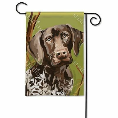 New Studio M German Shorthaired Pointer Garden Flag