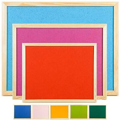 Quality Coloured Cork Pin Notice Message Boards 2 Sizes Pine Frame School Memo