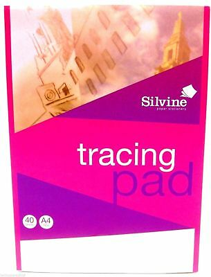 Silvine A4 Tracing Paper Pad Landscape 40 Sheets High Quality  : ref A4T      S