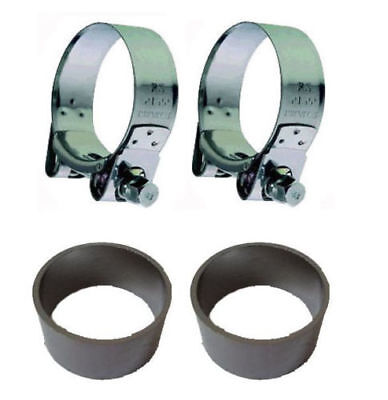 Kawasaki Zzr1400 06 To 07 Exhaust Silencer Gasket Seals & Stainless Clamps. Pair