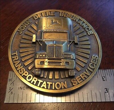 Belt Buckle - John Deere Insurance 1996 Limited Edition