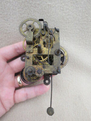 Antique Alarm Shelf Clock Movement For Spares Repair