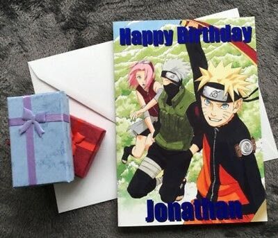 Personalised naruto kakashi sakura birthday card any name anime personalised naruto kakashi sakura birthday card any name anime manga xbox game 279 picclick uk stopboris Choice Image