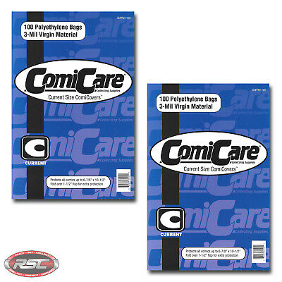 "200 - ComiCare CURRENT 3-Mil Polyethylene Comic Bags - 6-7/8"" x 10-1/2"""