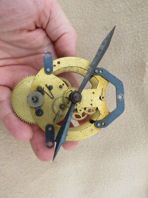 Small Vintage Spring Driven Clock Movement And Hands For Tlc