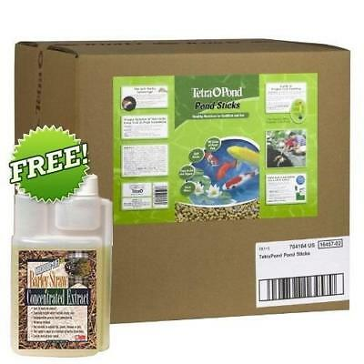 Tetra Pond 16457 Floating Food Sticks 11lbs 40 ltr+ FREE Barley Staw Extract