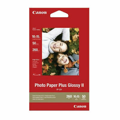 Canon 6x4 Glossy Plus II Photo Paper Pack  of 50 sheets 150x100mm PP201