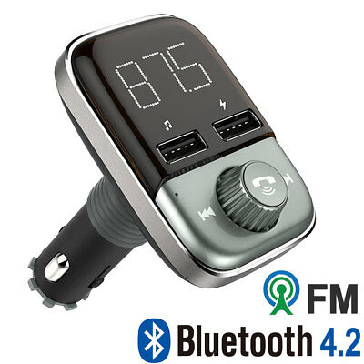 Wireless Bluetooth Hands-free Car Kit FM Transmitter MP3 Player TF 2 USB Charger