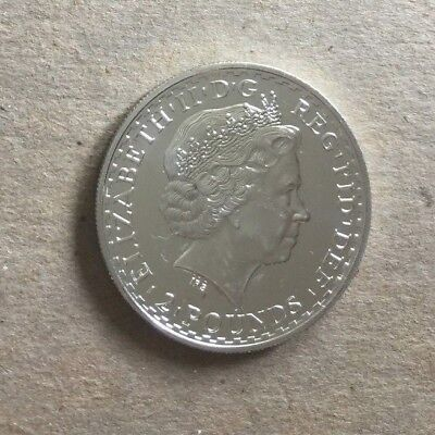2007 Great Brittain Britannia 2 Pounds 1oz Fine Silver