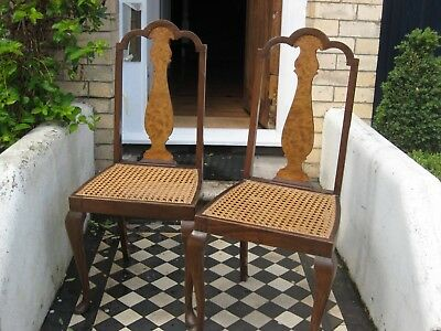 Gorgeous pair of antique / vintage wooden chairs - bargain price!