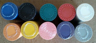 1000 Roulette /  poker chips 8 gram diamond edge choice of 10 colors