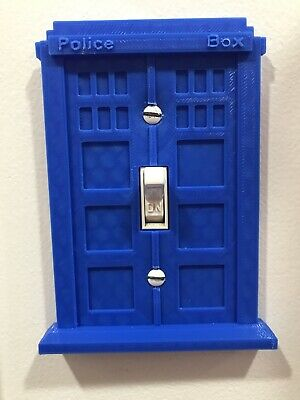 Doctor Who Tardis Light Switch Cover Plate Face Blue Dr Who - Fast Free Shipping