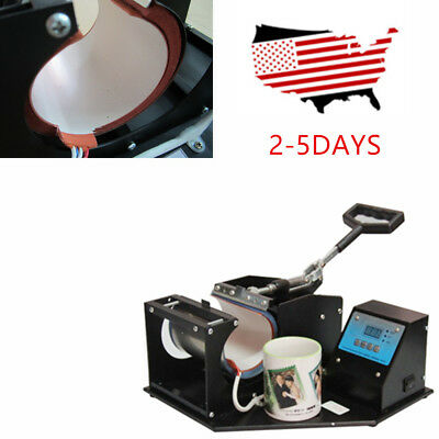 Dual Digital Heat Press Transfer Sublimation for Cup Coffee Mug Tool Commercial