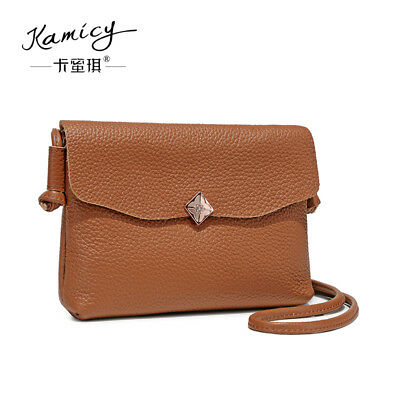 Kamicy 2018 cowhide leather handbag small square bag simple fashion shoulder  bag 290ee22d65fe1