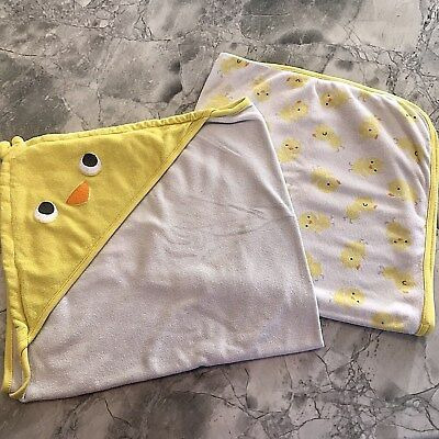 Carter's Just One You Duck Baby Bath Towels Lot of 2 Hooded