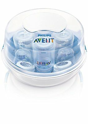 Microwave Bottle Steam Sterilizer Baby Bottles Philips Avent Nursery Compact New