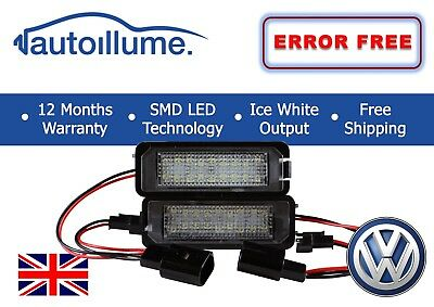 VW Golf GTI R R32 Mk5 Mk6 Mk7 Canbus Compatible LED Licence Number Plate Lights