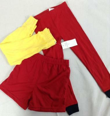 3Lot toddlers Carter's red pants/yellow pants/red shorts combo 3T