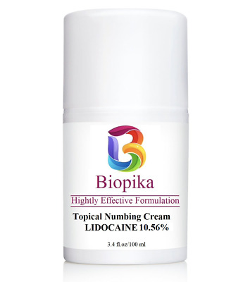 BIOPIKA, Numbing 10.56% LIDOCAINE Local Anesthetic Provides Pain Relief, 3.4 oz